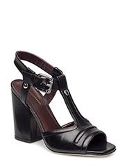Block Heel Italian Calf - BLACK