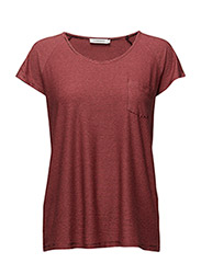 Camara Striped Jersey - HOT CORAL