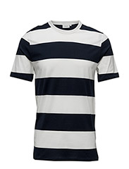 Leonard Mercerised Stripe - NAVY