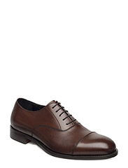Hopper Cap Toe Italian Calf - BROWN