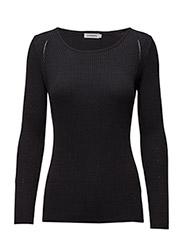 Mena Silky Knit - BLACK