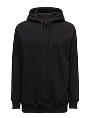 Stripe Hood Soft Sweat - BLACK