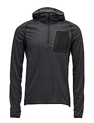M Running Hoodie Elements Jer. - BLACK MELANGE