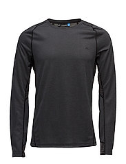 M Active LS Tee Elements Jer. - BLACK MELANGE