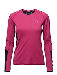 W Active LS Tee Elements Jers. - PINK INTENSE