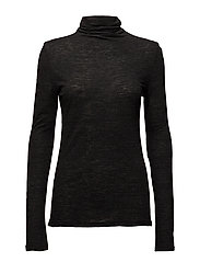 Ramona Wool Jersey - BLACK MEL
