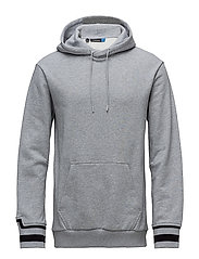 M Cian hood French Terry - STONE GREY MELANGE