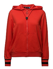 W Cyra Hood French Terry - RACING RED