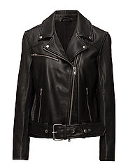 Colton Patched Leather - BLACK