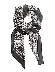 Square Scarf JL Print - BLACK