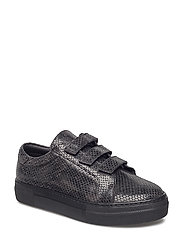 Velcro Sneaker Snake Leather - BLACK