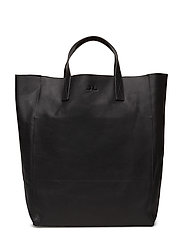 Tote Raw Leather - BLACK