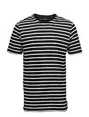 Coma Clean Striped Linen - BLACK
