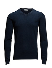 V-Neck Cashmere - Navy