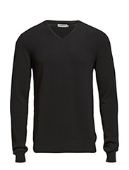 V-Neck Kashmerino - Black