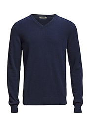V-Neck Kashmerino - Navy
