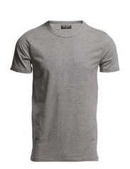 BASIC O-NECK TEE S/S NOOS - LIGHT GREY MELANGE
