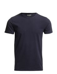 BASIC O-NECK TEE S/S NOOS - NAVY BLUE