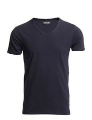 BASIC V-NECK TEE S/S NOOS - NAVY BLUE