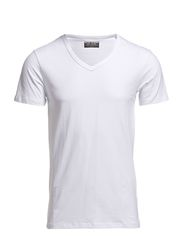 BASIC V-NECK TEE S/S NOOS - OPT WHITE