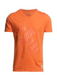 TONE TEE S/S CORE 1-2-3 2014 - Vermillion Orange