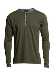 PHIL SOLID TEE L/S CORE 1-2-3 2014-NOOS - Olive Night