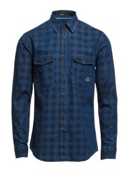 FRED SHIRT L/S CORE PB14 7-12 - Medium Blue Denim