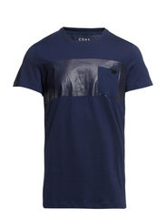 FANN TEE SS CREW NECK CORE TTT - Dress Blues