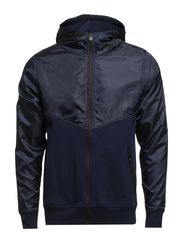 LINE SWEAT ZIP HOOD CORE 7-8-9 2014 DNA - Dress Blues