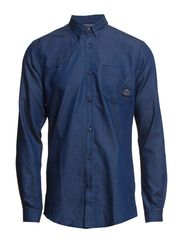 NORTON SHIRT ONE POCKET L/S - Dark Blue Denim