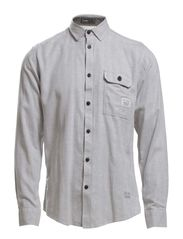 SIMON SHIRT ONE POCKET  L/S - Neutral Gray