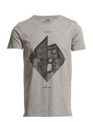 DEAL TEE CORE S/S EX 10-11-12 2013 - Light Grey Melange