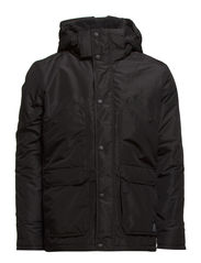 HALE SHORT PARKA JACKET - Black