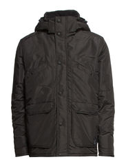 HALE SHORT PARKA JACKET - Dark Grey