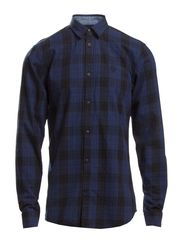 JOSEPH  SHIRT PLAIN L/S - Dress Blues