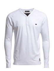 COBY TEE LS SPLIT NECK CORE NOOS - White