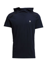 JJCOGATE TEE HOOD SS - Dress Blues