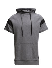 JJCOSHORT SWEAT HOOD TTT - Light Grey Melange