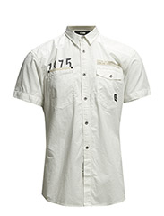 JJCOBADE SHIRT TWO POCKET S/S - Lily White