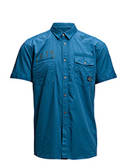 JJCOBADE SHIRT TWO POCKET S/S - Turkish Sea