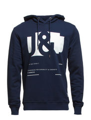 JJCOCOFFE SWEAT HOOD - Dress Blues