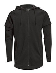 jjcoALDER SWEAT ZIP HOOD - Black