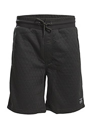 jjcoQUILT SWEAT SHORTS - CAMP - Black
