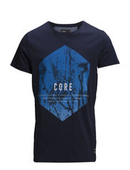 JJCOOUTSIDE TEE SS CREW NECK TTT SCAN - Dress Blues