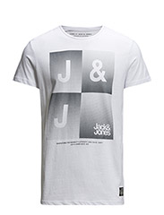 jjcoSHINE TEE SS CREW NECK - White