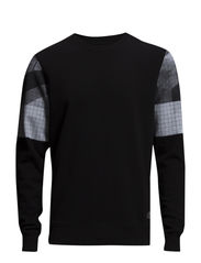 JJCOINTRO SWEAT CREW NECK - Black