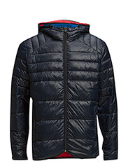 jjcoBARON PUFFER JACKET CAMP - Black Navy