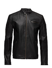 JCOCOP LEATHER JACKET NOOS - BLACK