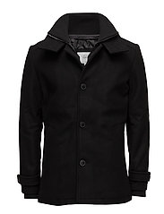 JCOJOE WOOL JACKET. - BLACK