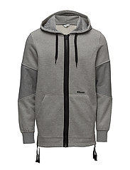JCORIKO SWEAT ZIP HOOD - LIGHT GREY MELANGE